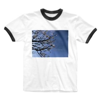 光景 sight738 梅  花 FLOWERS Ringer T-shirts