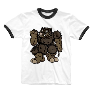 おデブで愉快な仲間たち♡ 『ポーキィ』 Ringer T-shirts