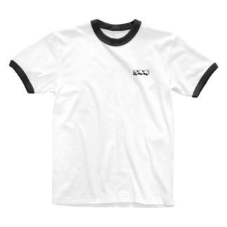 ぱんちゃん(夏のおもひで) 黒 Ringer T-shirts