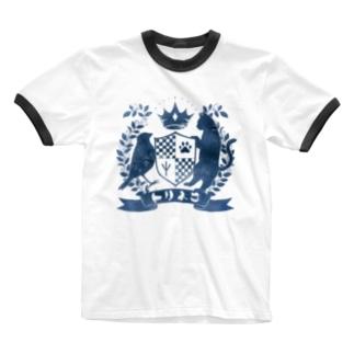 トリネコエンブレム(青) Ringer T-shirts