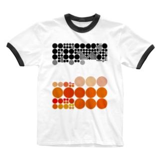 水玉シリーズ39 Ringer T-shirts