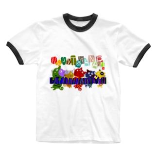 ニャンとかにゃるニャンコ Ringer T-shirts