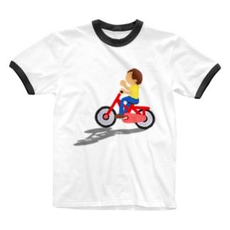 自転車 Ringer T-shirts
