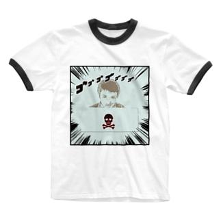 ダーク良太(ドクロ) Ringer T-shirts