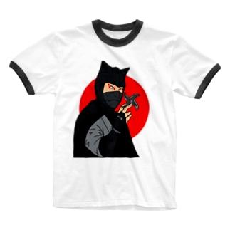 怪傑黒頭巾 Ringer T-shirts