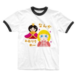 フランス人形とお雛はん-hina doll and dolls of the world-お雛はんと世界の人形たち- Ringer T-shirts