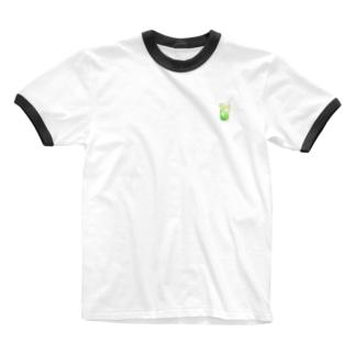 メロンクリームソーダ Ringer T-shirts