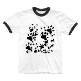 わんこがいっぱい Ringer T-shirts