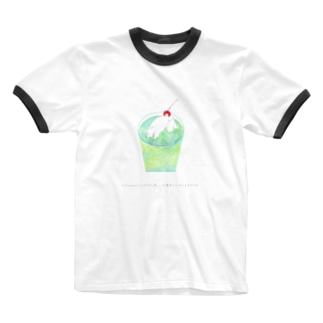 とけかけのバニラアイスと思ったら夢中でへばってる犬だった Ringer T-shirts