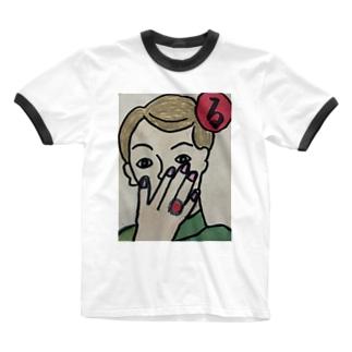 〜る〜 ルビーの指輪きれいだな Ringer T-shirts