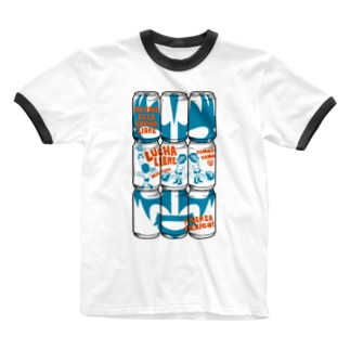 CANNED LUCHA dos Ringer T-shirts