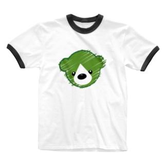 くまさんロゴマーク Ringer T-shirts