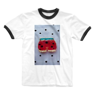 すいか柄 ちょうちんパンツ柄 Ringer T-shirts
