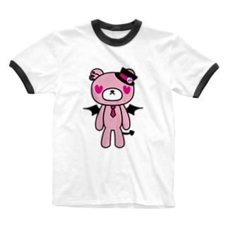 piNk bEaR Ringer T-shirts