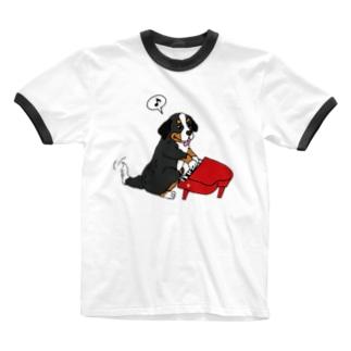 動物シリーズ:バーニーズ Ringer T-shirts