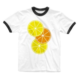 レモンとオレンジ Ringer T-shirts
