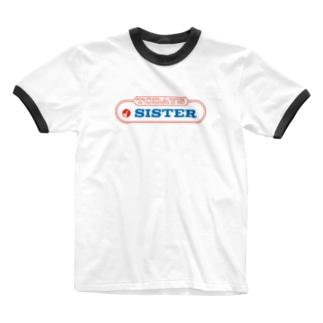 original logo 【TODAYS SISTER】 Ringer T-shirts