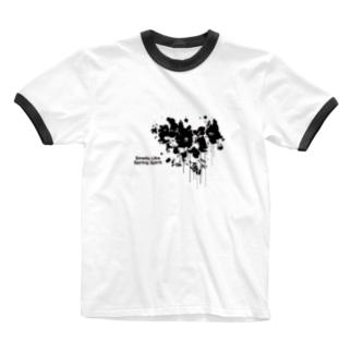 春が漏れてる Ringer T-shirts