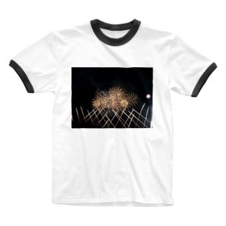あの日の花火のおもひで Ringer T-shirts