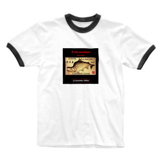 G-HERRING(鰊;鮭;Tenkara;SALMON)のカラフトマス!利尻島(樺太鱒;PINK SALMON)生命たちへ感謝を捧げます。※価格は予告なく改定される場合がございます。 Ringer T-shirts