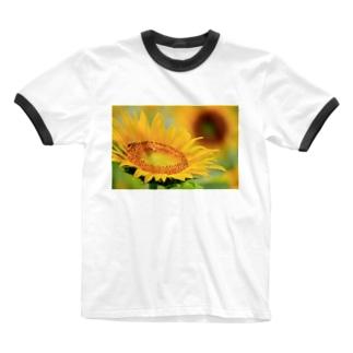 M.F.Photoのひまわり Ringer T-shirts