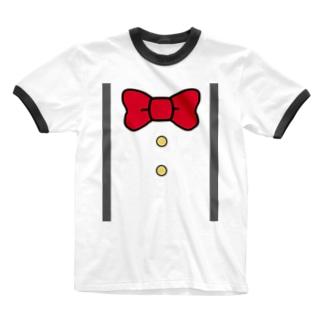 サスペンダー風Tシャツ Ringer T-shirts