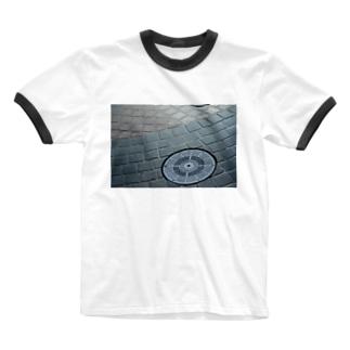 夏の夕暮れ Ringer T-shirts