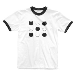 シャレオツねこ Ringer T-shirts
