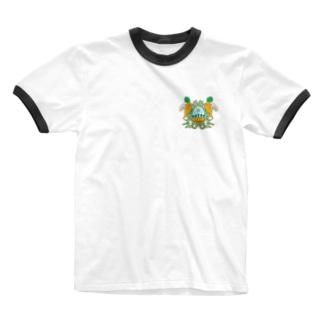 キャロフィールド紋 Ringer T-shirts