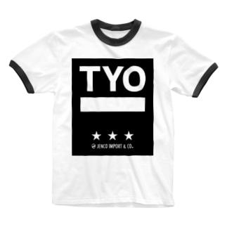 JENCO IMPORT & CO. TYO Ringer T-shirts