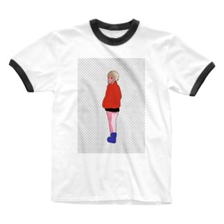 浮 Ringer T-shirts