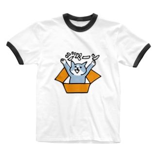 猫ジャーン Ringer T-shirts