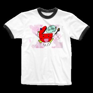 shiy-のナベキッチ Ringer T-shirts