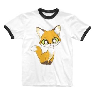 コギツネ Ringer T-shirts