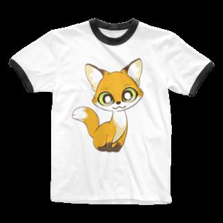 白井慶太のコギツネ Ringer T-shirts
