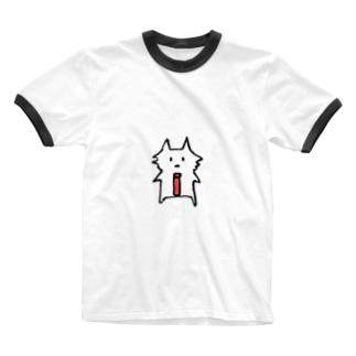 サコツネコ(文字なし) Ringer T-shirts