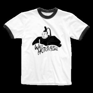 カルショップの徳川家康のリンガーTシャツ Ringer T-shirts