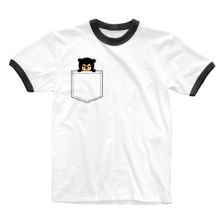 ポッケにマレー Ringer T-shirts