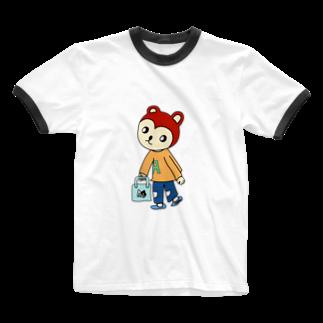 CHIPPERS SHOPのCHIPPERくん(ちっぱー) Ringer T-shirts
