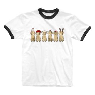 かぶりもの Ringer T-shirts