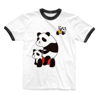 パンダカー Ringer T-shirts
