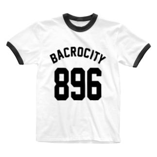 BACROCITY~馬喰町(黒文字) Ringer T-shirts