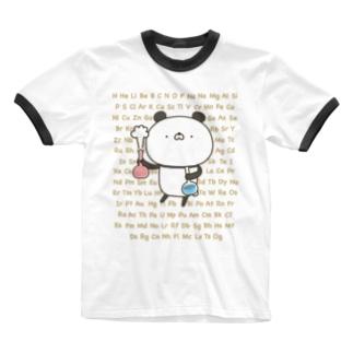 かわいいぱんださん実験・元素記号 Ringer T-shirts
