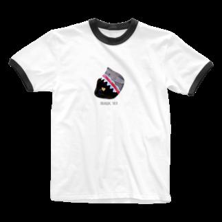 HakubeiのシッポのSHARK🐱 Ringer T-shirts