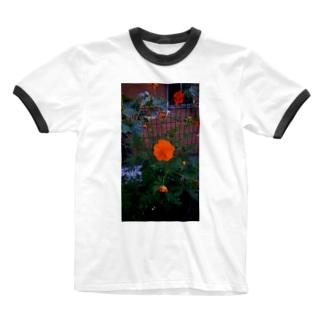 オレンジ Ringer T-shirts