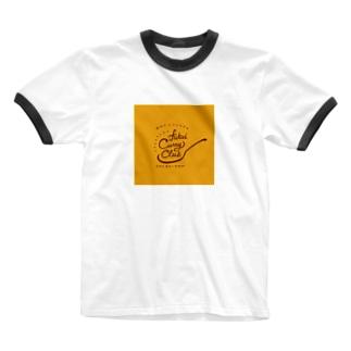 FUKUI CURRY CLUB ロゴ Ringer T-shirts