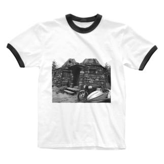 モノクロ Ringer T-shirts