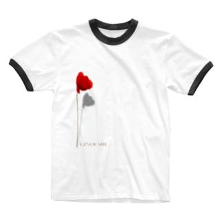 """ぎのうし群""""GINOUSHI(あなたの姿)""""057 Ringer T-shirts"""