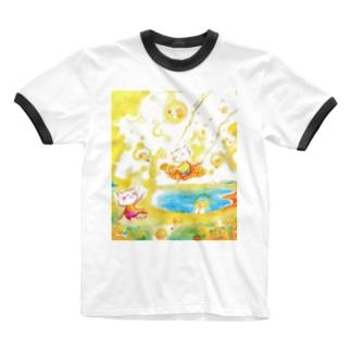 絵描き-國重 奈穂-2 Ringer T-shirts