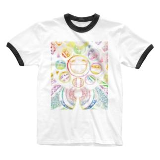 絵描き-國重 奈穂-4 Ringer T-shirts